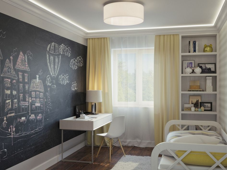 Детская комната с местом для сна и творчества