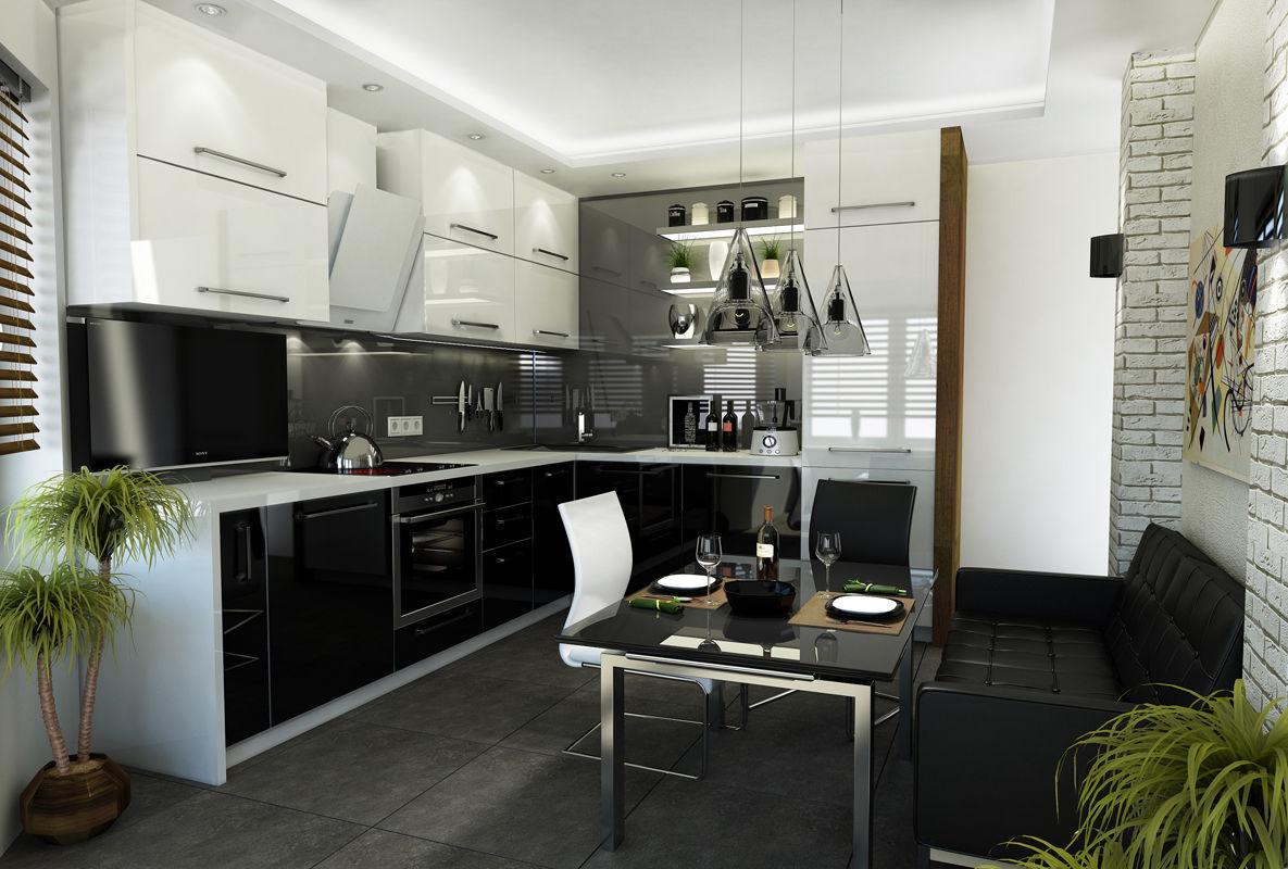 Лаконичная кухня в стиле hi-tech
