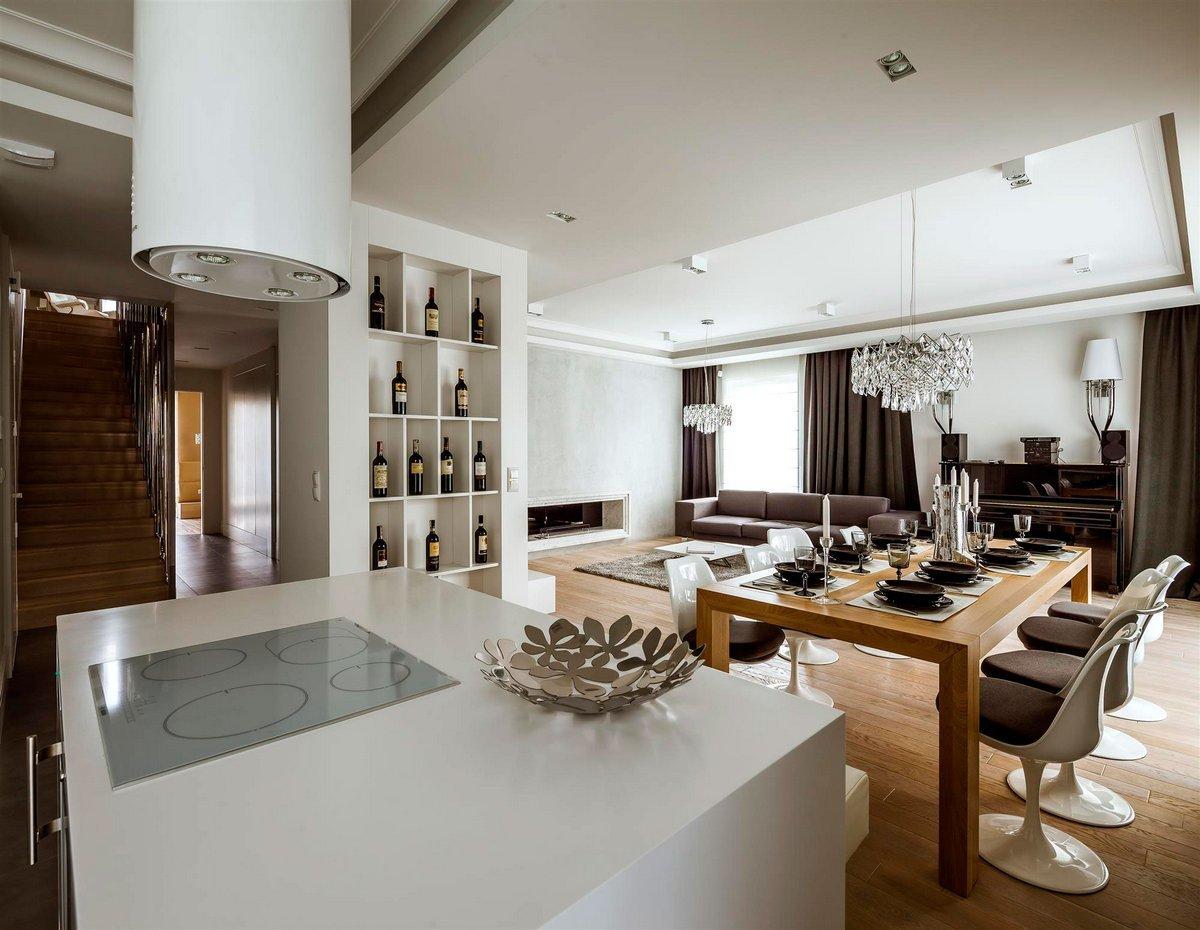 Чистые линии, правильные формы мебели в мужской гостиной