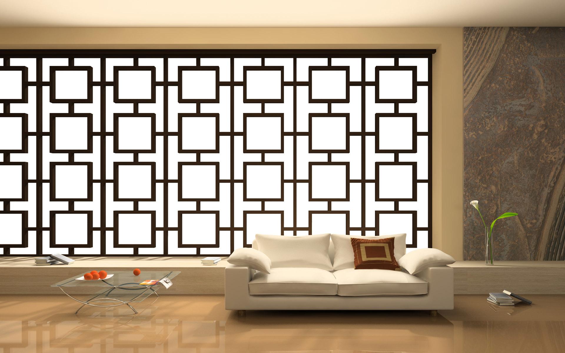 """Традиционно помещение разделяется на зоны ширмой (в современном дизайне вместо них используют тканевые панели) или перегородками """"фусума"""", в виде тонкой рамы, обклеенной с двух сторон, пропускающей рассеянный мягкий свет, рисовой бумагой."""