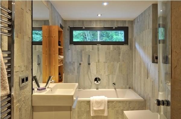 Ванная-отделка природным камнем