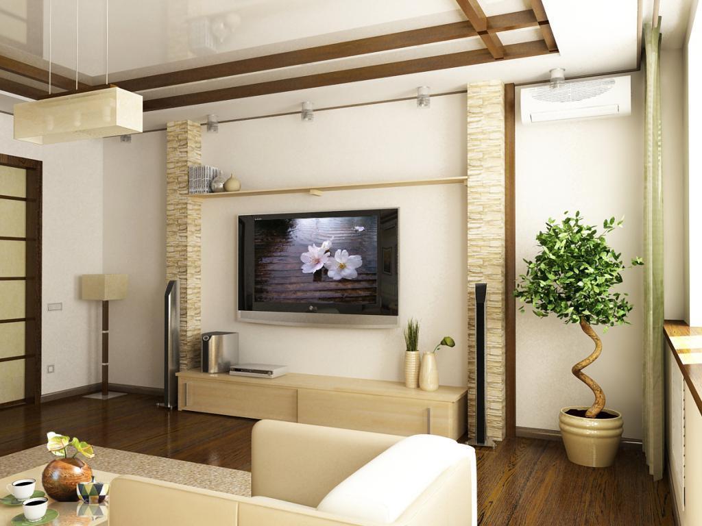 Все то, что подчеркнуло бы индивидуальность гостиной, рассказало о хозяевах дома и их предпочтениях, отсутствует в японских интерьерах. Возникает проблема вписания в лаконичный японский дизайн таких предметов как диван, телевизор, музыкальный центр.