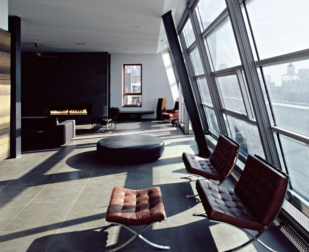 Бывший склад площадью 975 квадратных метров архитектурная студия Archi-Tectonics переделала в лофт. Сохо. Нью-Йорк.