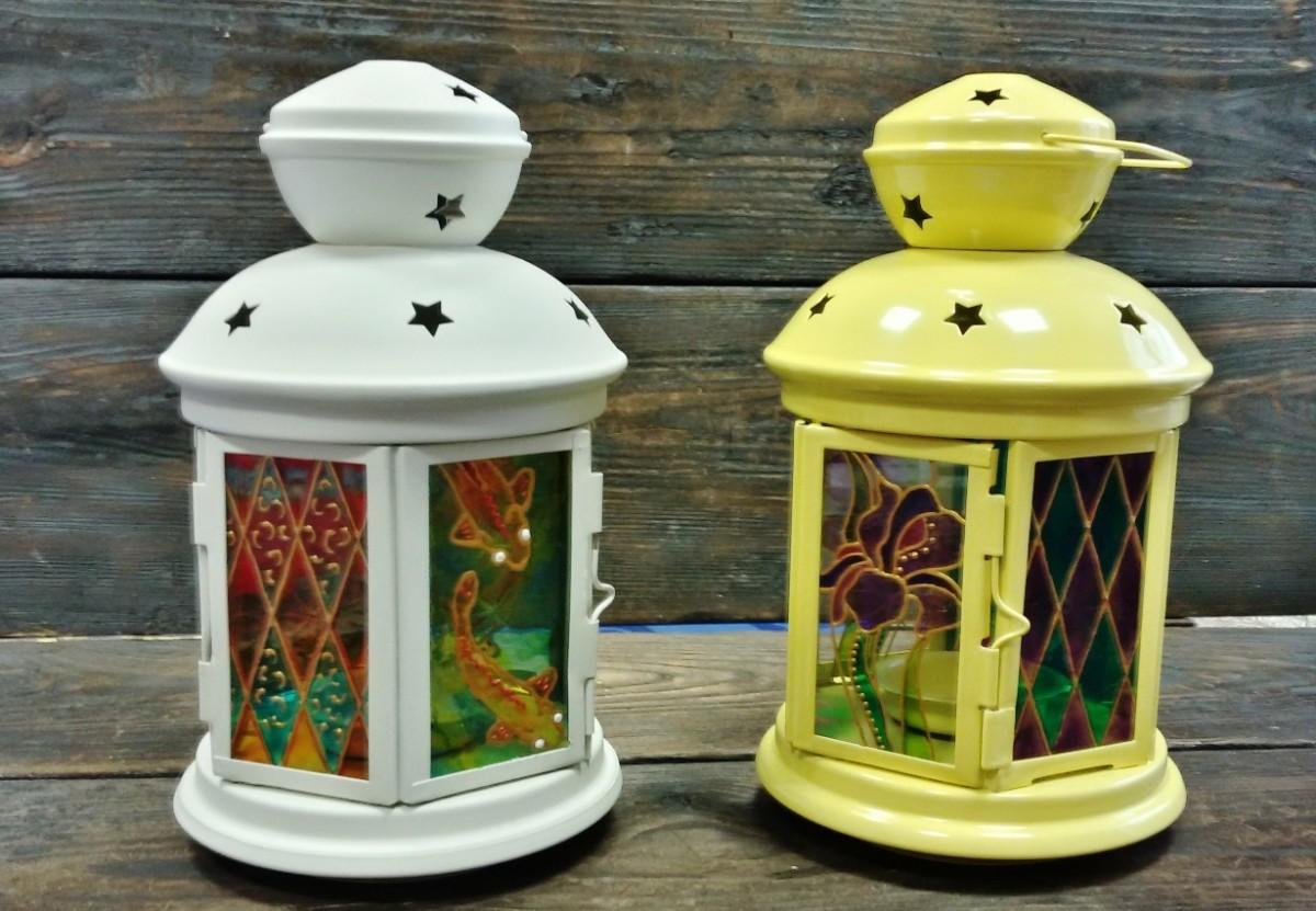 Светильники с витражными стеклами