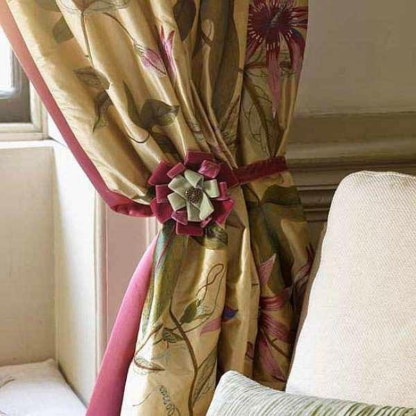 Декор для штор из тесьмы и лент