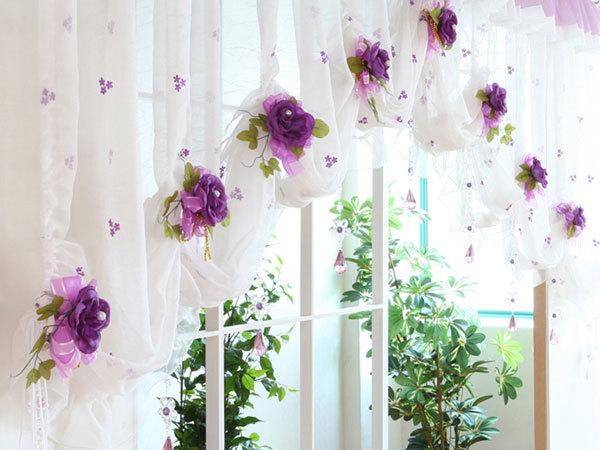 Клипсы с цветами для романтической гостиной