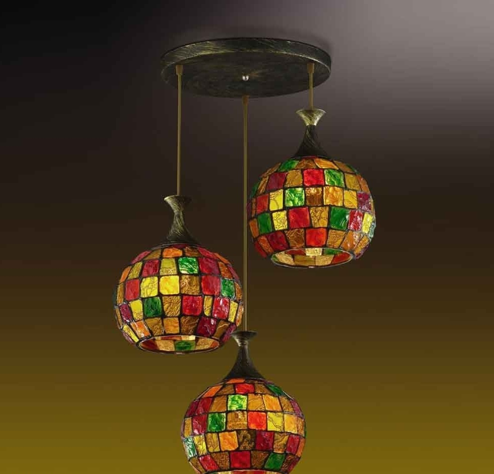 Витражи выпуклых или вогнутых форм(плафонов для светильников, люстр) изготавливайте на специальных формах