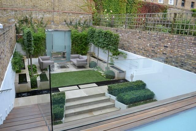 Маленький двор в стиле минимализм