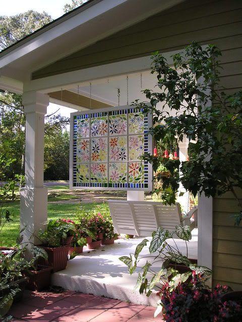 Садовый витраж
