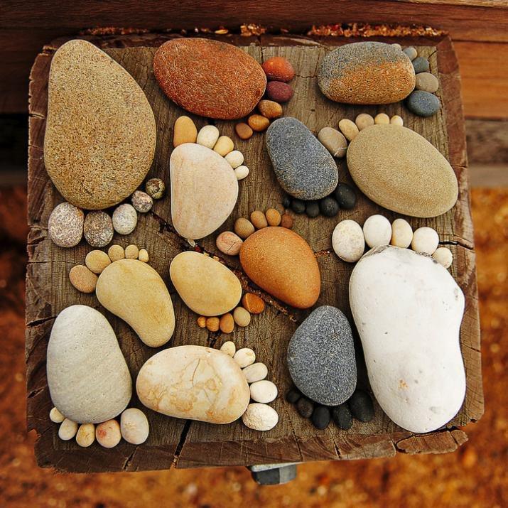 Аппликация из камня своими руками