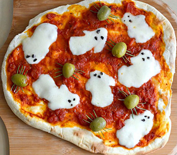 Пицца с привидениями