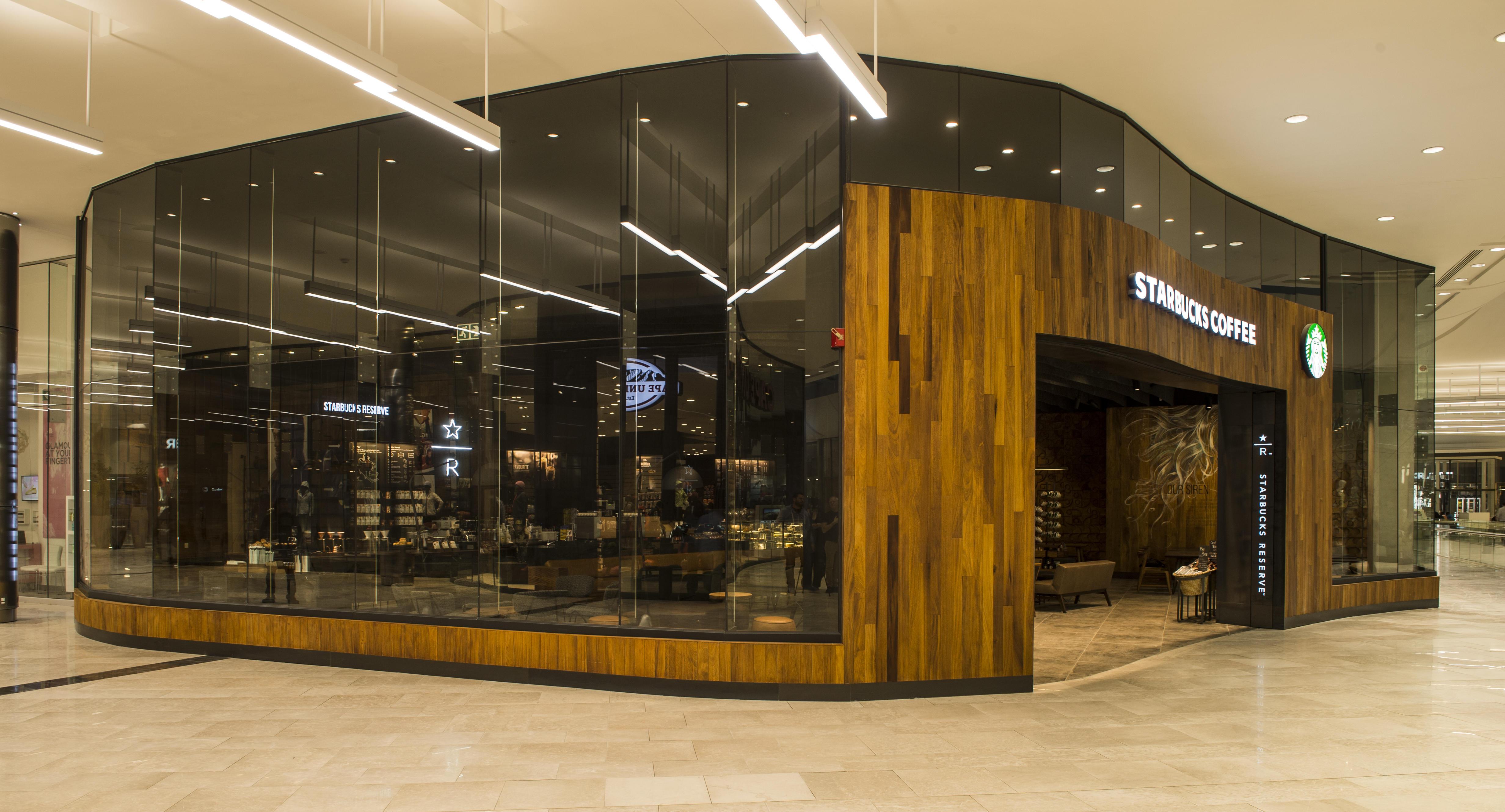 Дизайн нового кофейного магазина Starbucks.