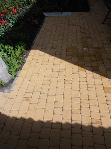 Укладка тротуарной плитки. Патио