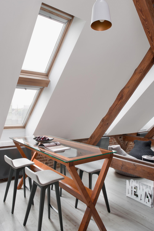 Апартаменты в Познани ранее были чердачным помещением. Студия Cuns