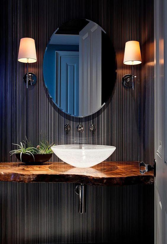 Tropical bathroom design