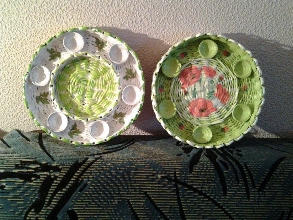 Подставка для яиц плетеная