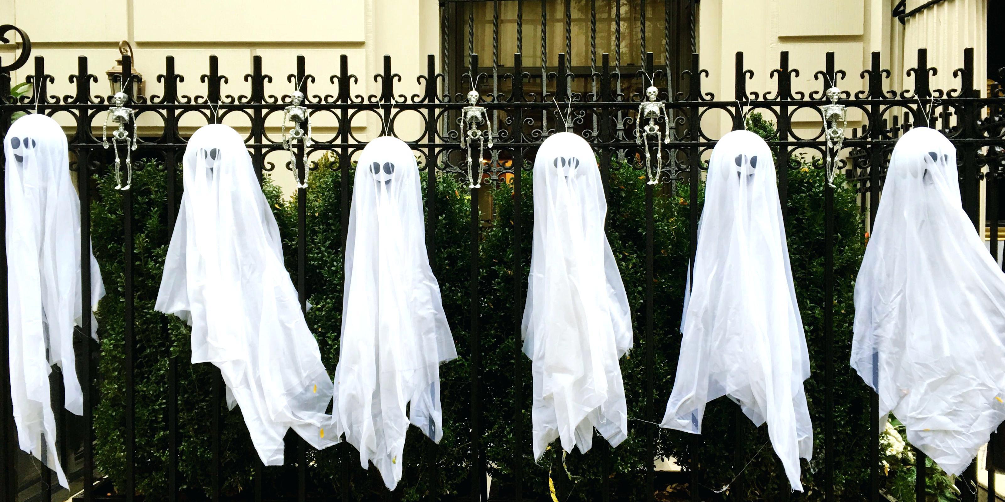 Привидения у ограды своими руками