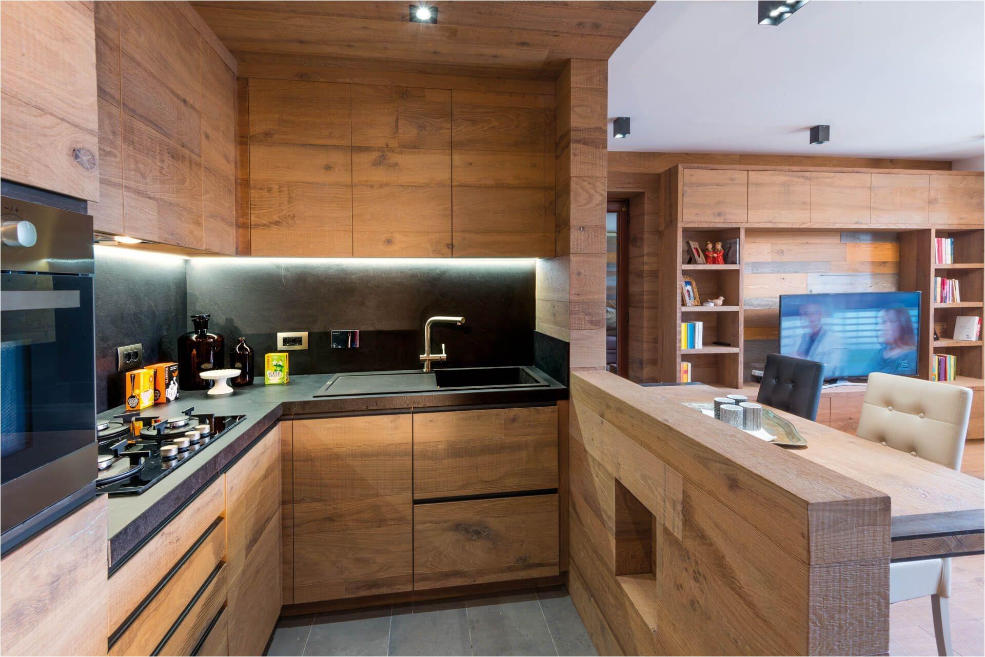 Дизайнерские тенденции для кухни в стиле шале