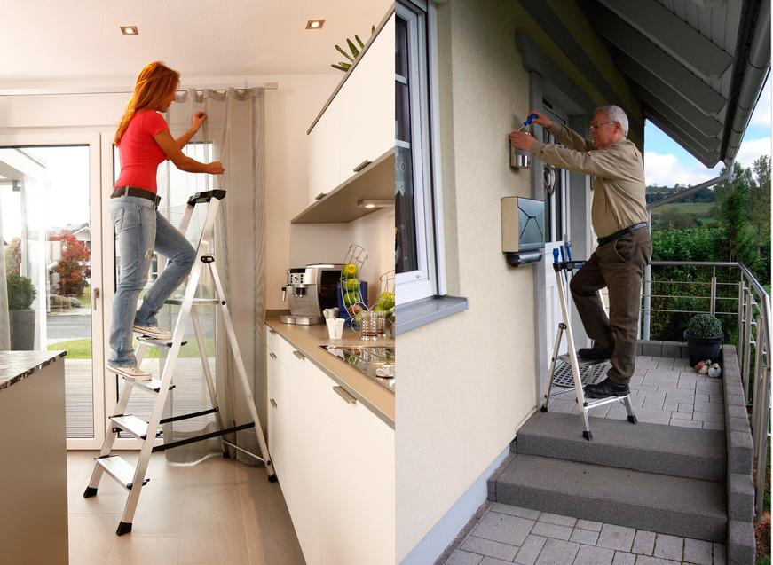 Алюминиевая стремянка - лестница высокого качества и больших функциональных возможностей