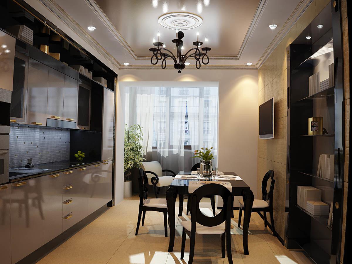 Стилистическое решение кухни существенно зависит от вкусовых предпочтений владельца помещения.