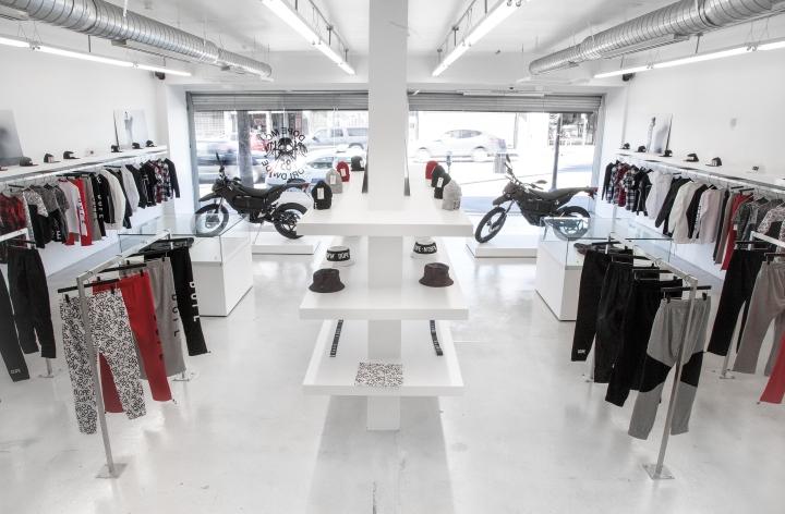 Дизайн магазина мужской одежды DOPE. Лос-Анджелес