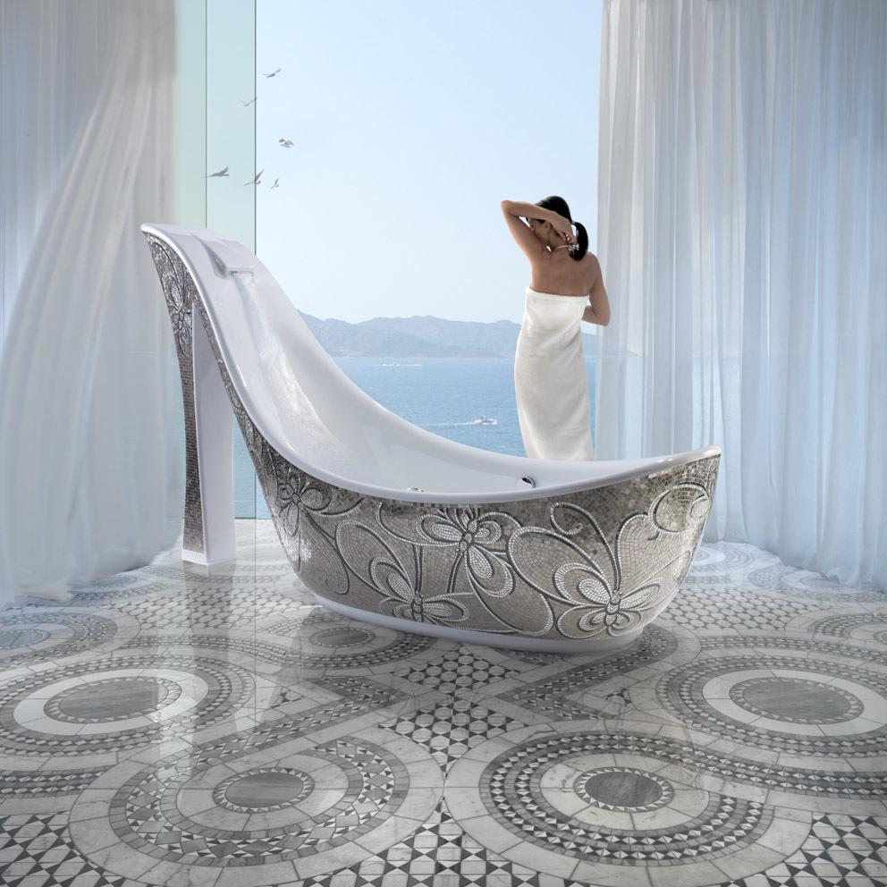 Оригинальность и смелые решения сделают вашу ванную неординарной.