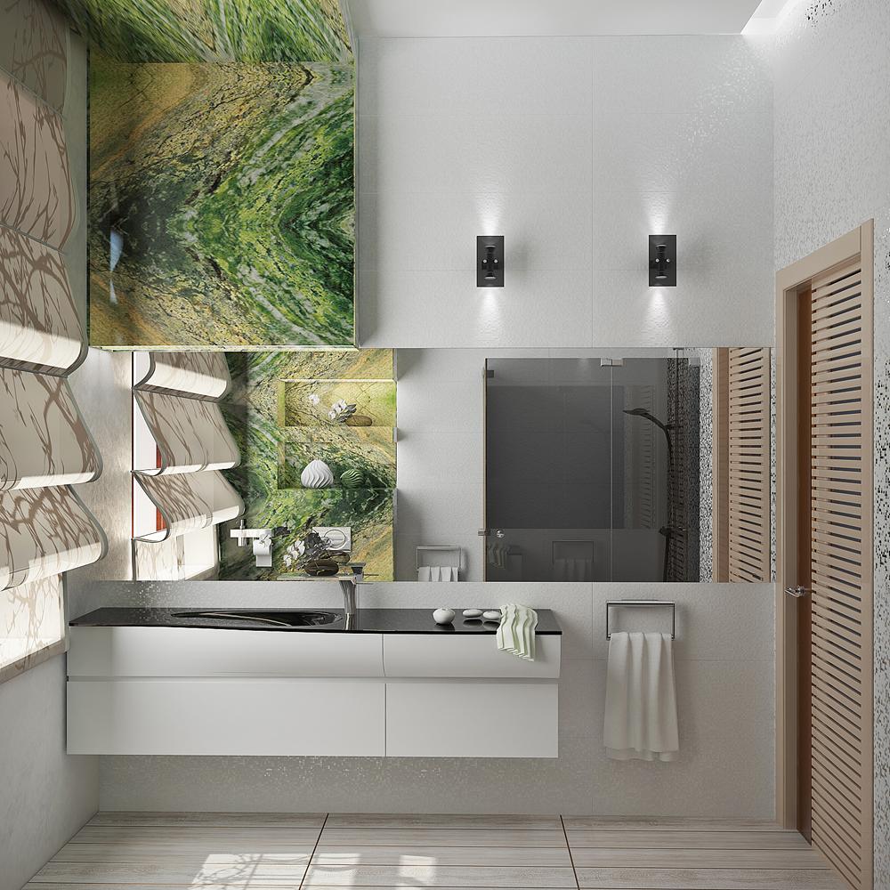 Используйте зеркала в дизайне. С помощью оптической иллюзии вы раздвините стены и поднимите потолок даже в не большом помещении.