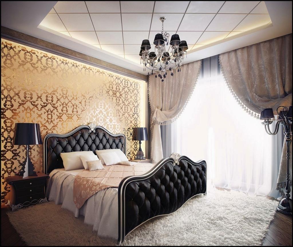Спальня арт-деко легкая и изящная с налетом театральности.