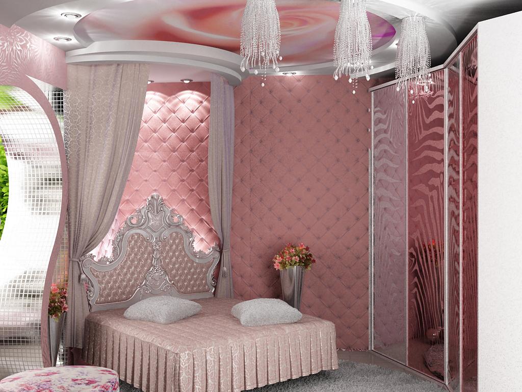 Стили барокко и ампир в спальной комнате создадут атмосферу комфорта и богатства.