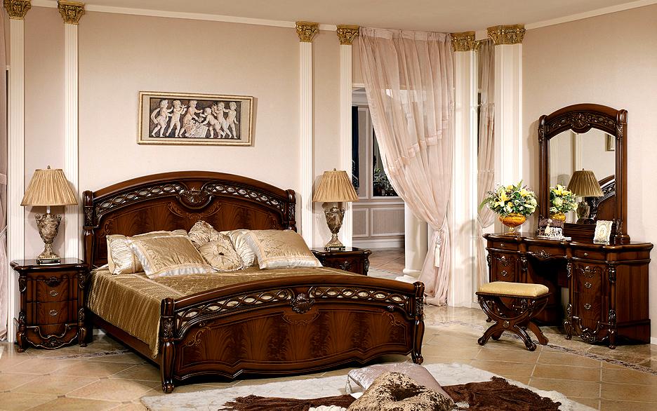 Красивая кровать-центральный элемент