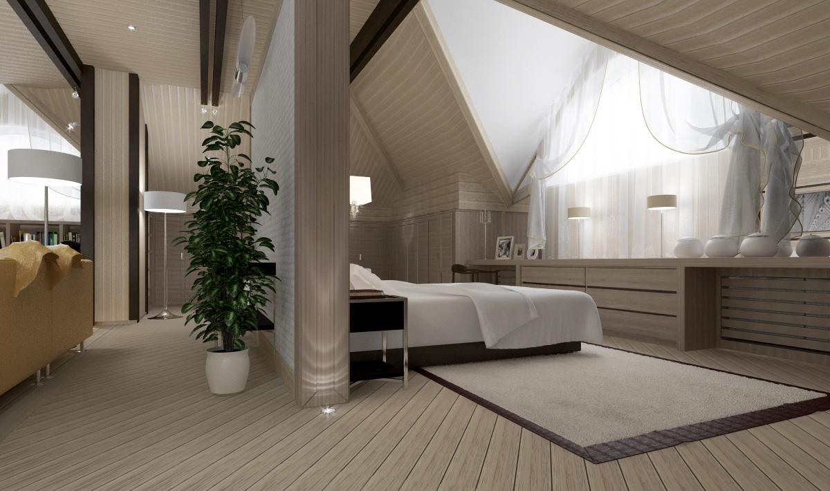 От того, как будет выглядеть ваша спальня, выберите и способ тонировки обшивки.