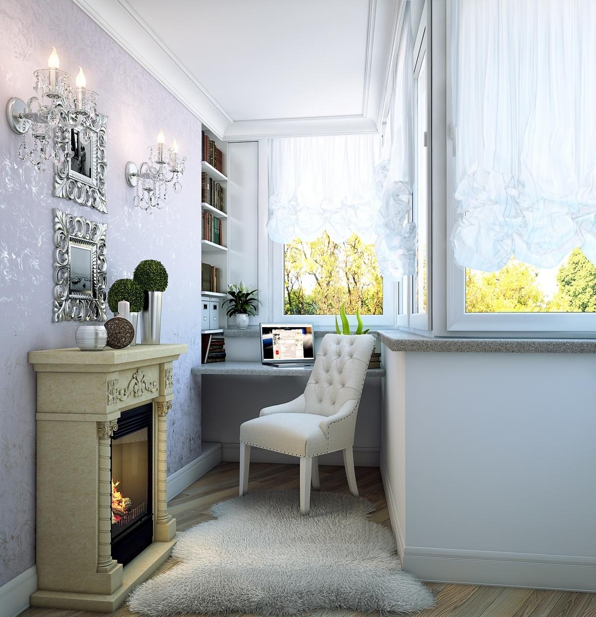 Оформление балкона и комнаты дожно быть в одном стиле и цвете. Это сделает пространство единым
