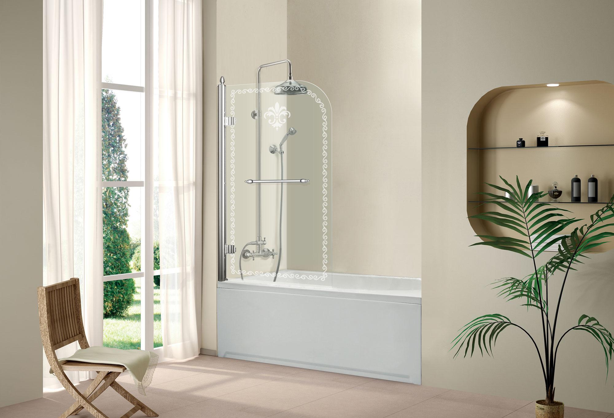 Выбираем стеклянные или пластиковые шторы для ванной в кризис