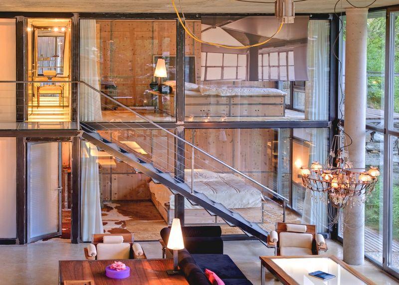 Роскошное шале в Швейцарии в стиле манхэттенского лофта.