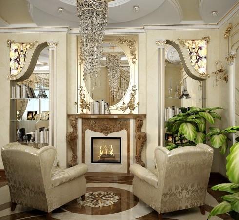 Будет ли камин настоящим или декоративным, его наличие в гостиной комнате создаст волшебную атмосферу — атмосферу гармонии с собой и окружающим миром.