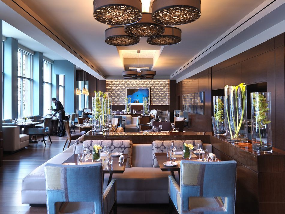 Интерьер ресторана отеля Mandarin Oriental. Барселона