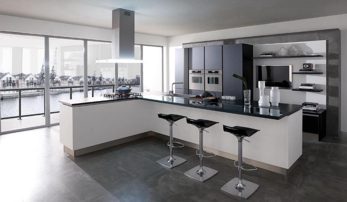 Стиль hi-tech в дизайне кухни.