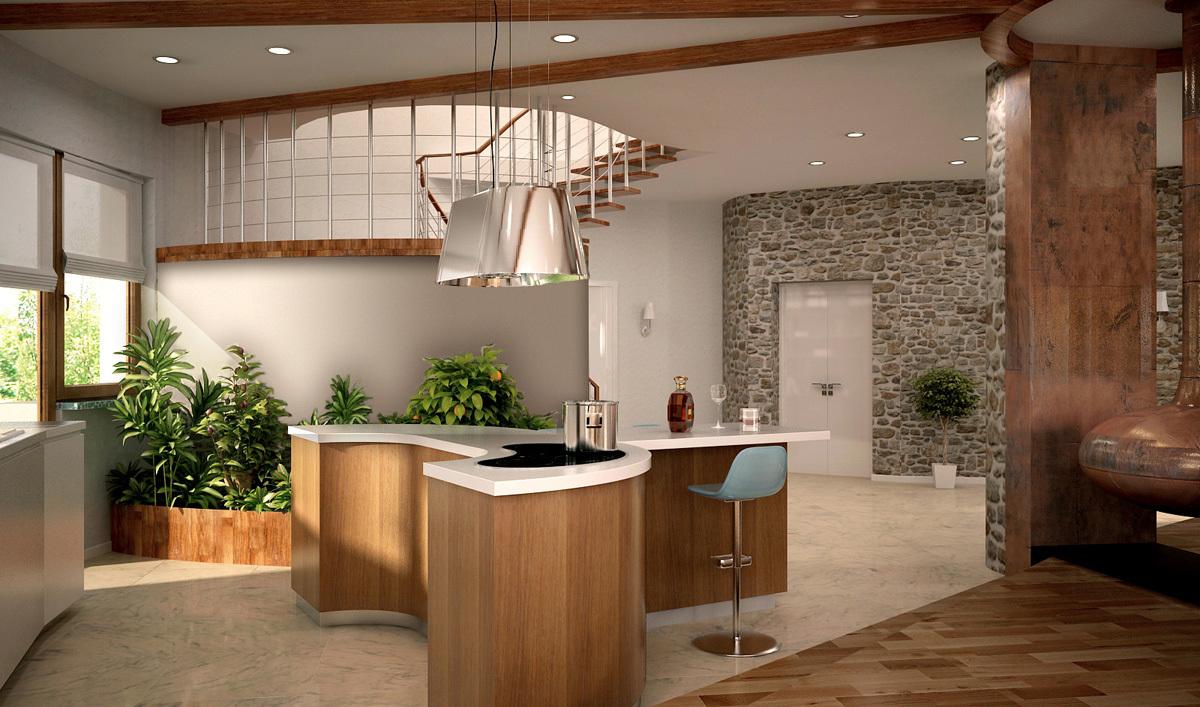 Совмещая гостиную с прихожей, можно достичь визуального увеличения пространства у прихожей и избавиться от темного неиспользуемого коридора, в то время как, сама гостиная приобретет некую глубину и загадочность.