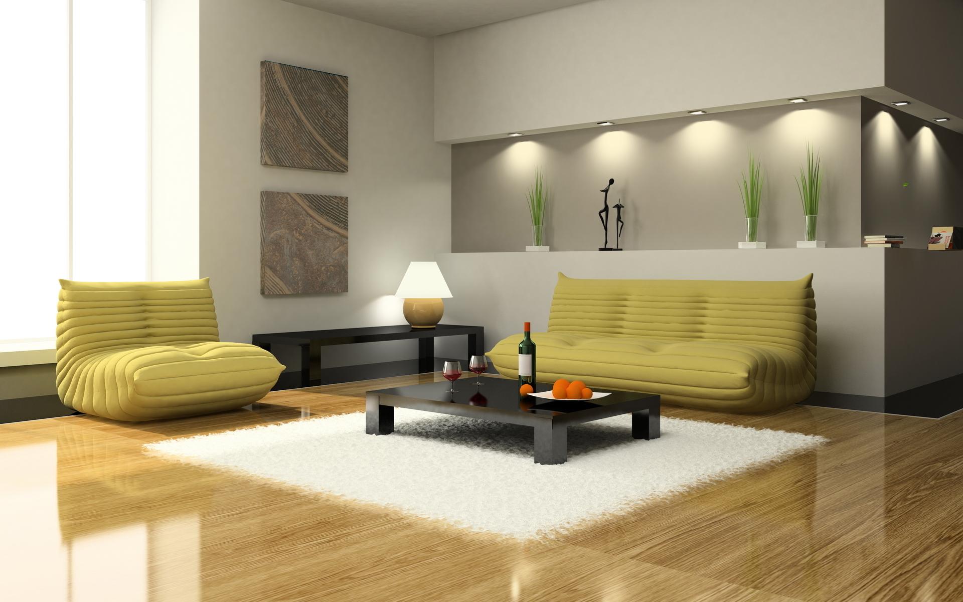 Корпусная мебель подбирается также по принципу минимального присутствия и максимума функциональности. Часто в минималистичном интерьере можно увидеть шкафы-купе во всю стену с зеркальными или выполненными из матового стекла дверьми.