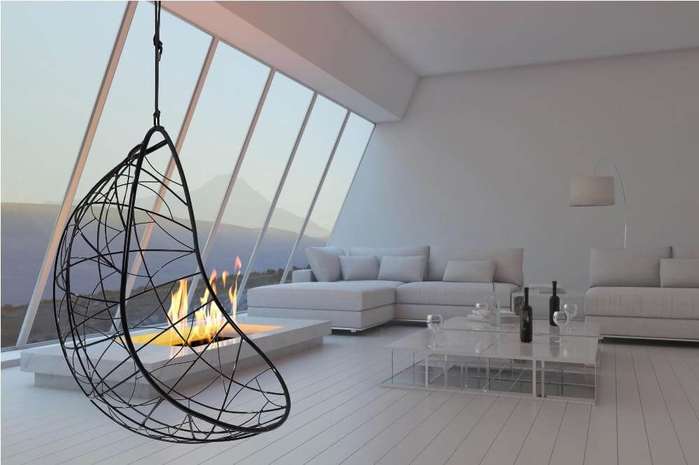 Кресло подвесное в стиле hi-tech