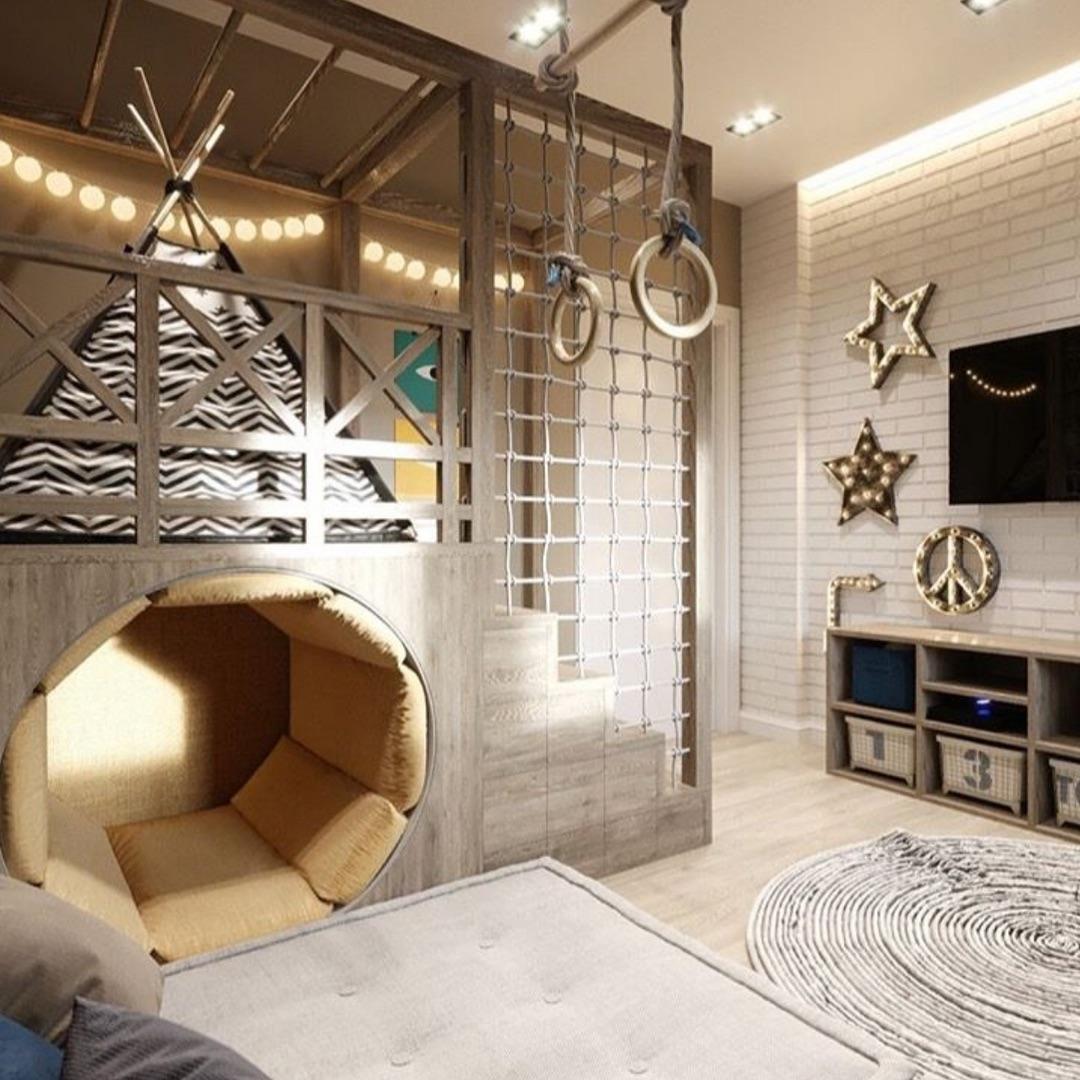 Удивительная деткая комната с вигвамом
