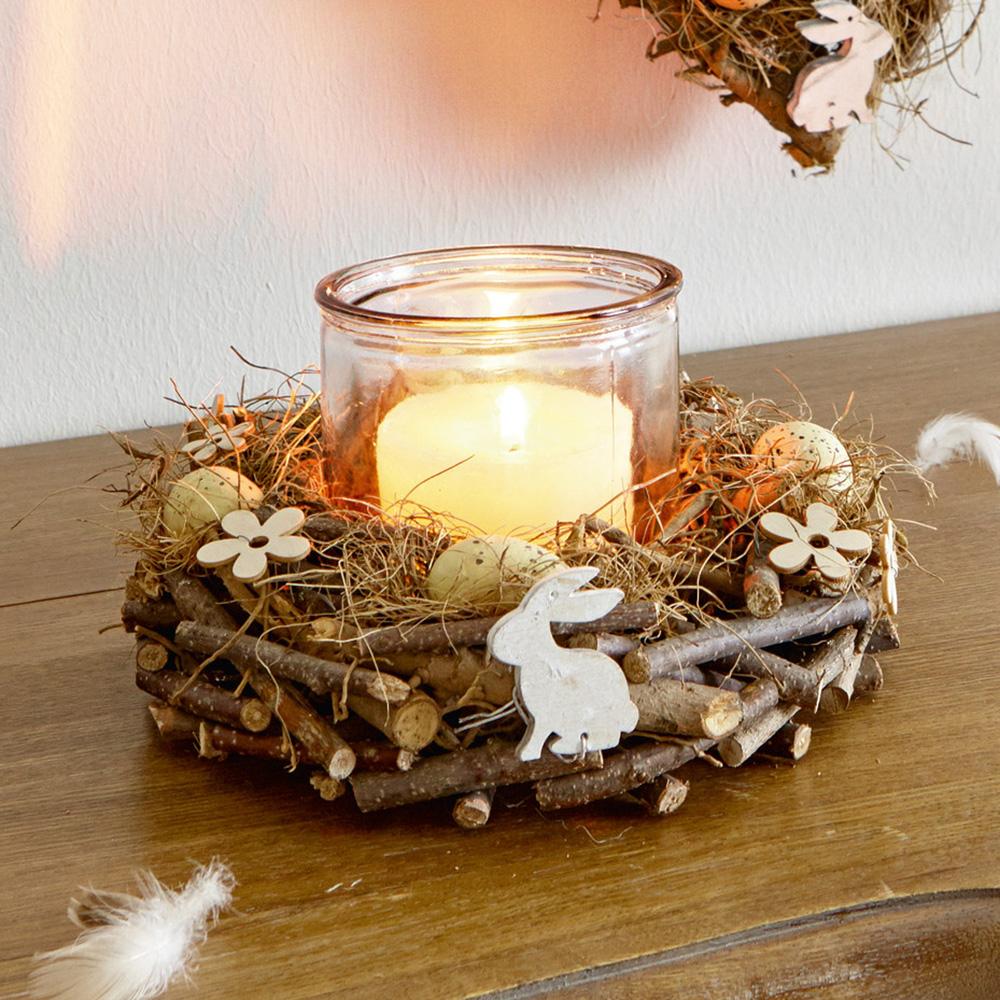 Пасхальный декор. Гнездо - подсвечник