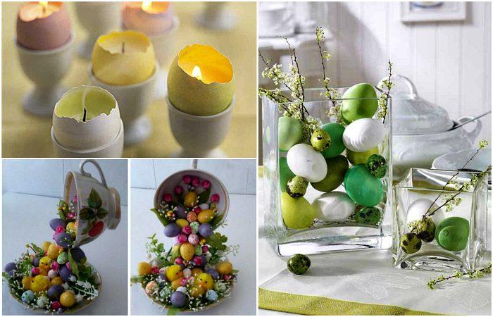 Пасхальный декор и композиции из яиц