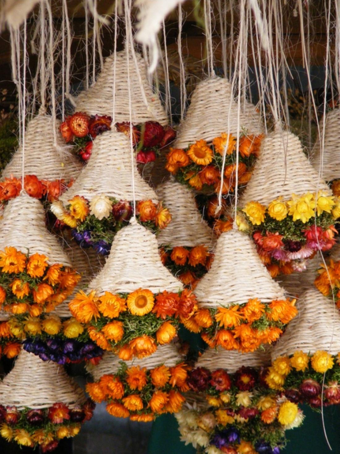 Осенние букеты-люстры