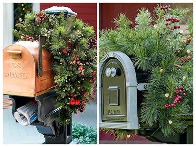 Новогодний декор почтового ящика
