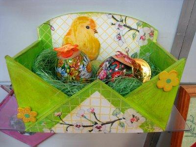 Корзиночка для пасхальных яиц своими руками.