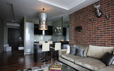 Стиль лофт и урбанистический стиль - комбинирование старого и нового в интерьере.