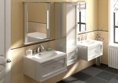 Подвесная мебель сохранит максимум свободного пространства и облегчит вам задачу уборки ванной комнаты. Чистота с наименьшими усилиями.