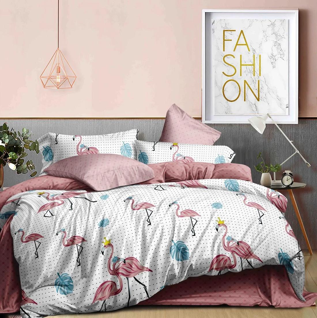 """Комплект постельного белья """"Flamingo King"""" Ранфорс"""