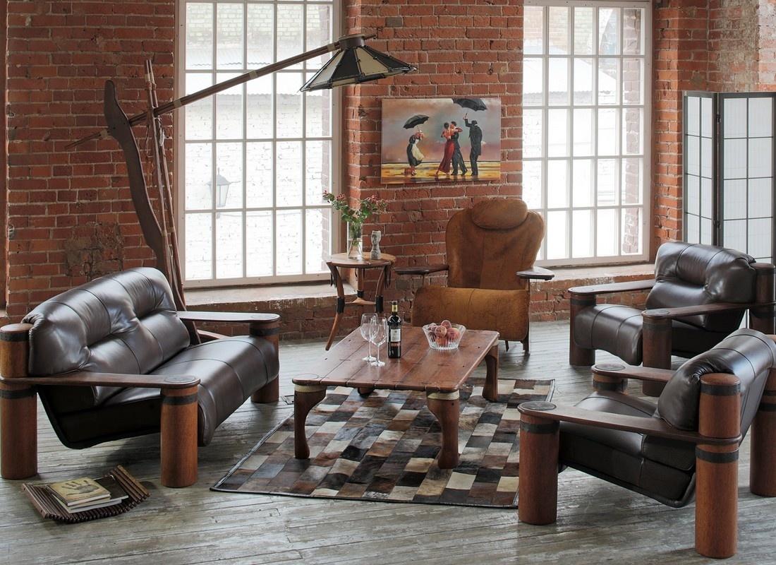 Обивка мягкой мебели может быть как текстильной, так и кожаной